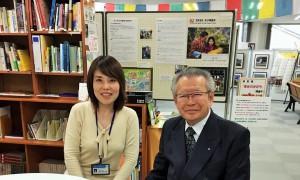 シニア起業セミナー講師 野坂氏とセンター岡田の写真